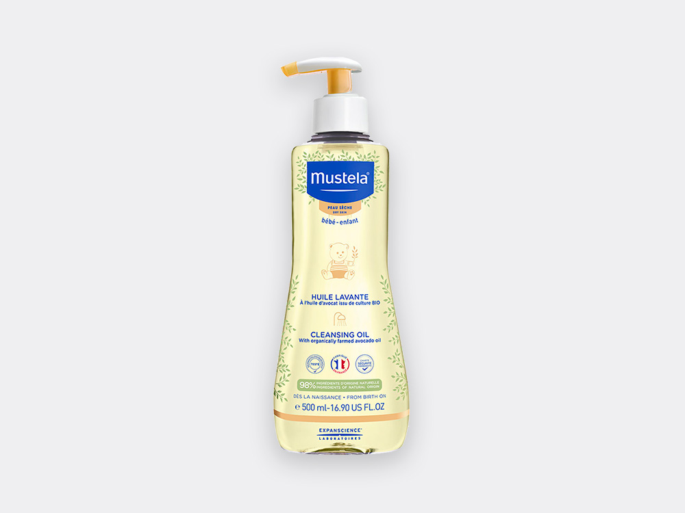 Cleansing oil for babies with normal skin