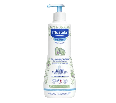 Cleansing gel with organic avocado for baby and child
