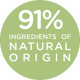 91% ingredients of natural origin