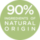 90% ingredients of natural origin