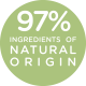 97% ingredients of natural origin