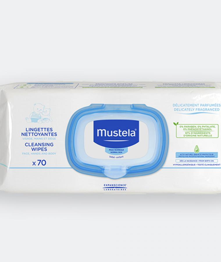 Mustela cleansing wipes for babies with normal skin
